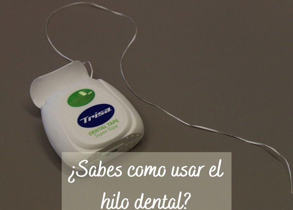 ¿Sabes cómo usar el hilo dental?