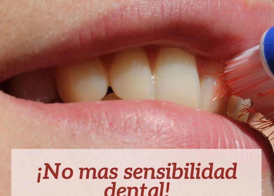 ¡No más sensibilidad dental!